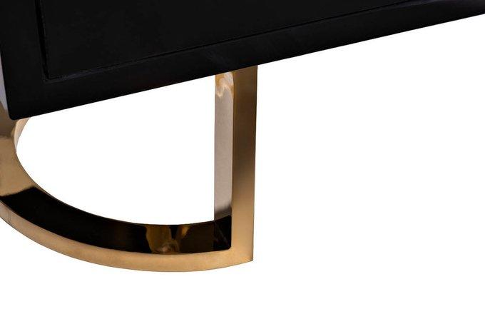 Тумба под телевизор черного цвета с золотом
