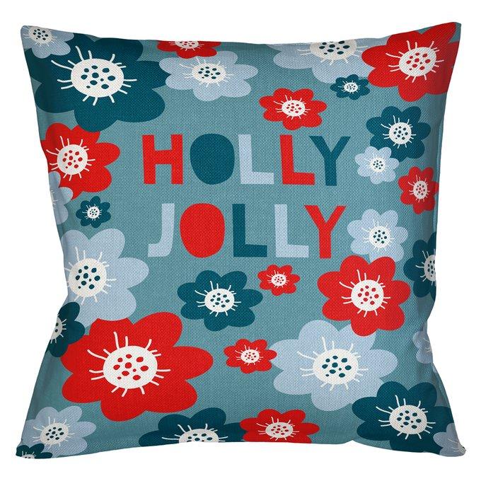 Декоративная арт подушка Новогоднее настроение версия 13