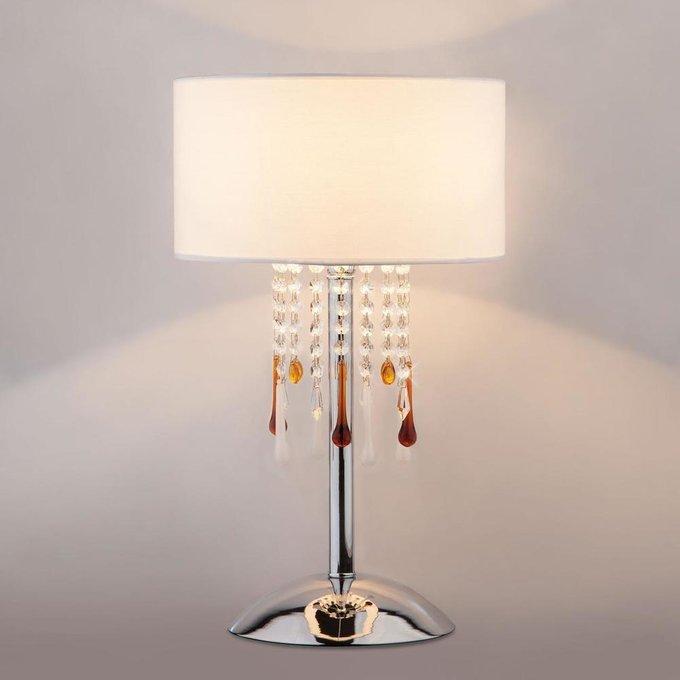 Настольная лампа Glamour Strotskis с белым абажуром