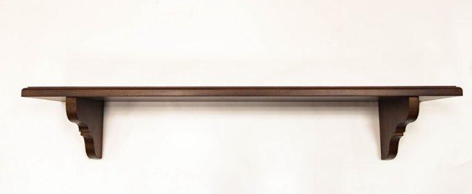 Полка настенная коричневого цвета