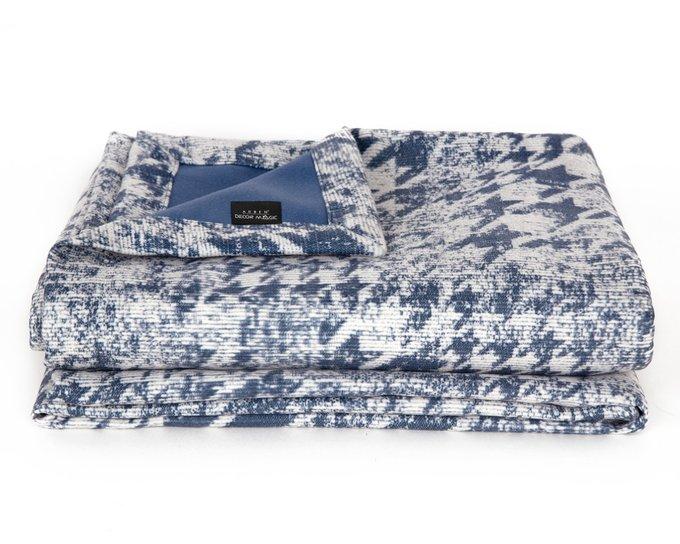 Плед Baily 140х200 бело-синего цвета