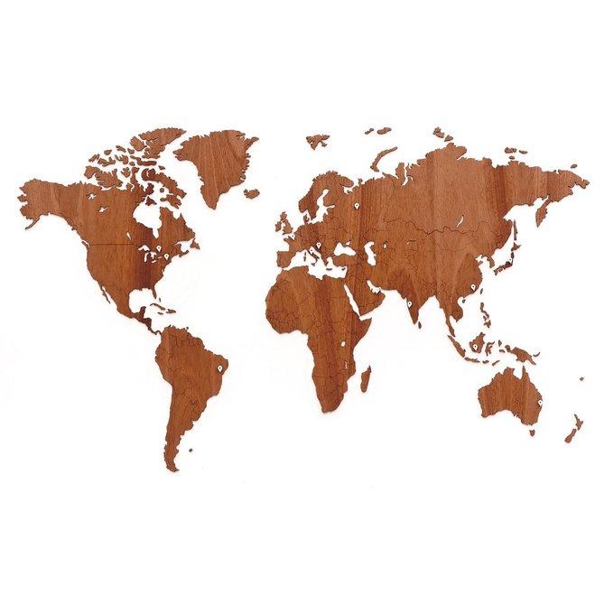 Карта настенная exclusive африканский махагон 130х78