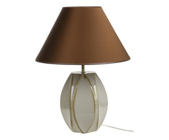 Настольная лампа Sporvil с коричневым абажуром