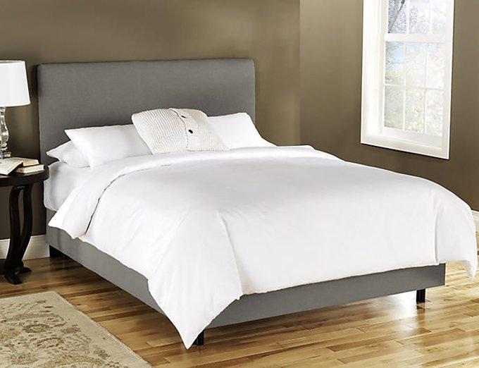 Кровать Frank Platform Gray серого цвета 180х200