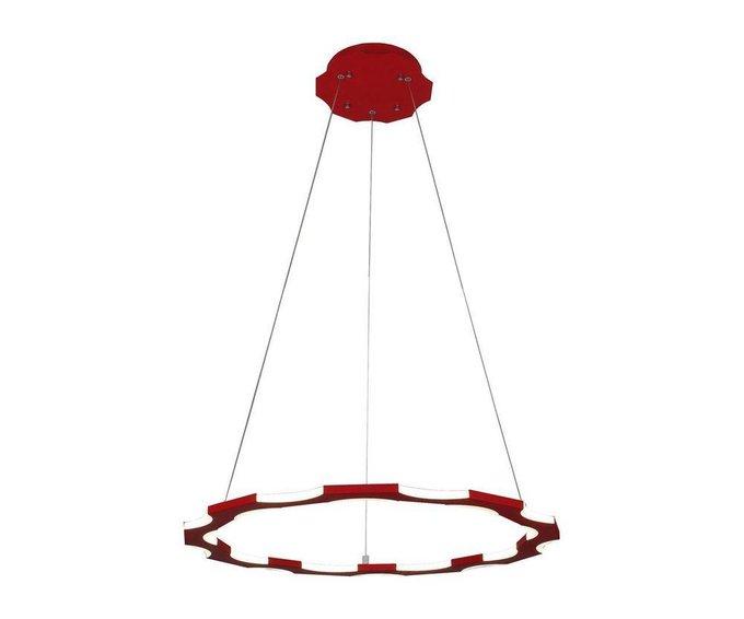 Подвесной светодиодный светильник Тор-Байт красного цвета