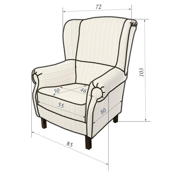 Кресло Розы Прованса темно-синего цвета