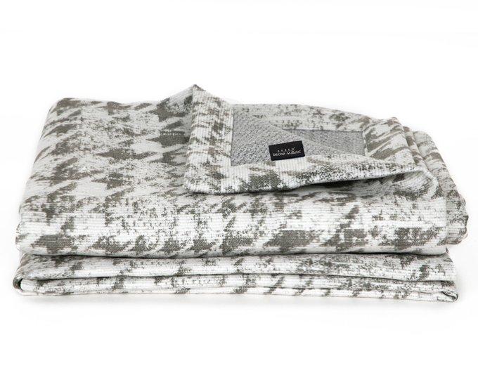 Плед Stanly 140х200 бело-серого цвета