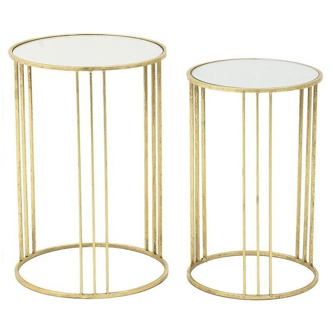 Набор из двух кофейных столиков золотого цвета