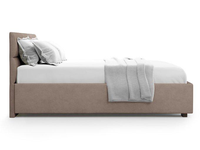Кровать Bolsena 160х200 светло-коричневого цвета с подъемным механизмом