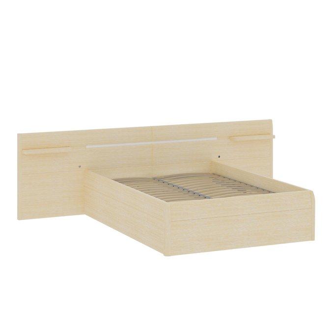 Кровать Илона 160х200 бежевого цвета с подъемным механизмом