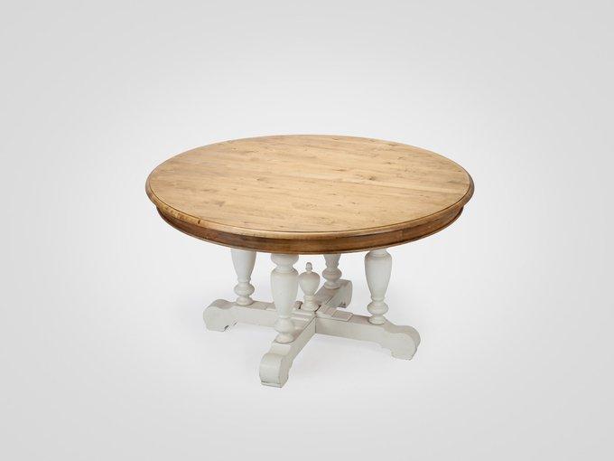 Стол обеденный на резном подстолье из березы