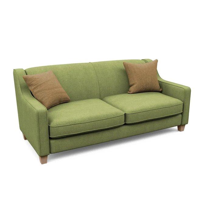 Трехместный диван Агата L зеленого цвета