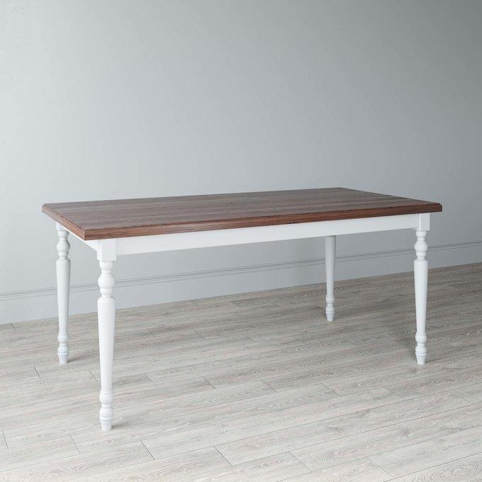 Стол обеденный New Classic с белым подстольем из бука