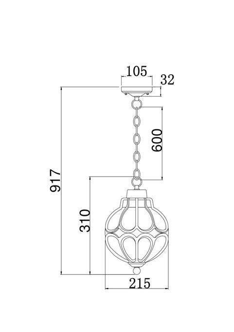 Уличный подвесной светильник Via янтарного цвета