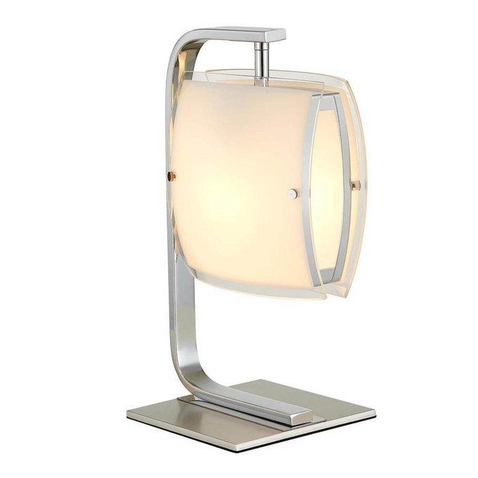 Настольная лампа Берген с плафоном из стекла