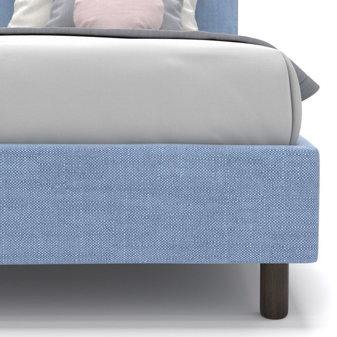 Односпальная кровать Tiana голубого цвета 90х190