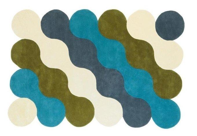 Ковер Vagues de la mer сине-зеленого цвета 150x200