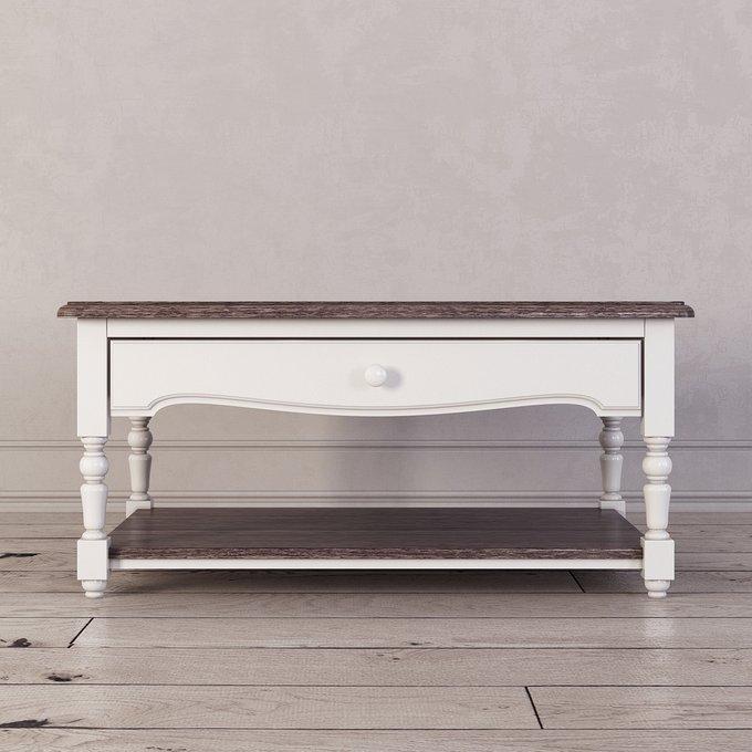 Журнальный столик Leblanc белого цвета