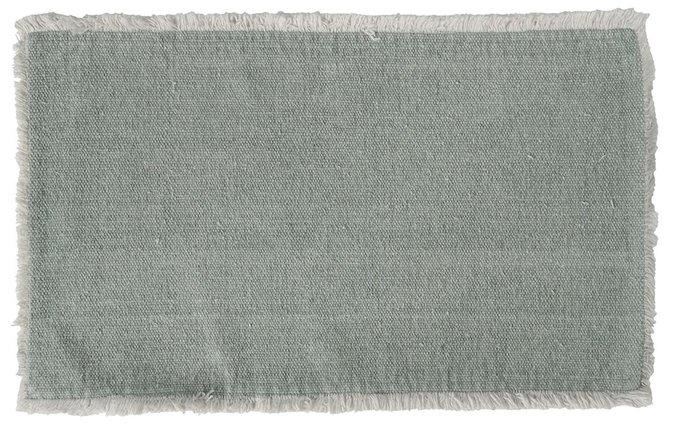 Льняная салфетка под приборы серого цвета