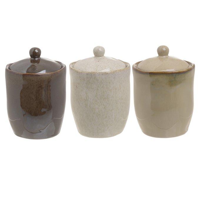 Комплект из трех банок с крышкой