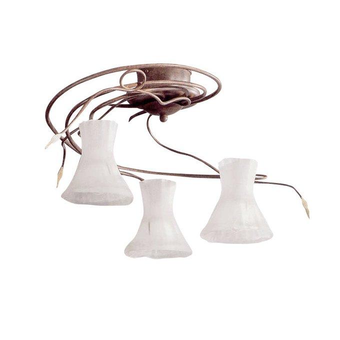 Потолочный светильник Zonca с плафонами из матового белого стекла