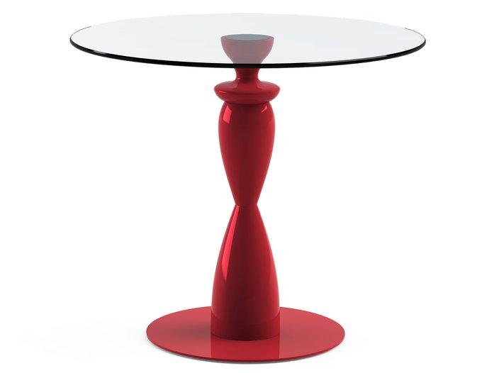 """Обеденный стол """"CANTALESO Red"""" со столешницей из закаленного стекла"""