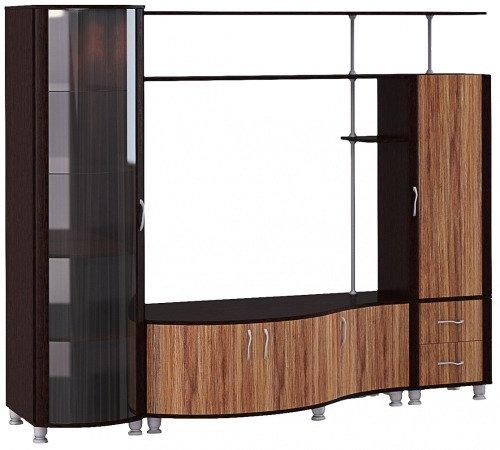 Стенка Глазовская мебельная фабрика «Элегия», палисандр темный