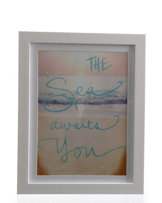 Постер Sea awaits you в пластиковой рамке