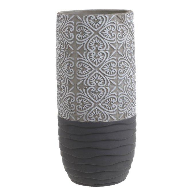 Декоративная ваза серого цвета