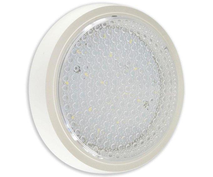Настенно-потолочный светодиодный светильник Сигма белого цвета