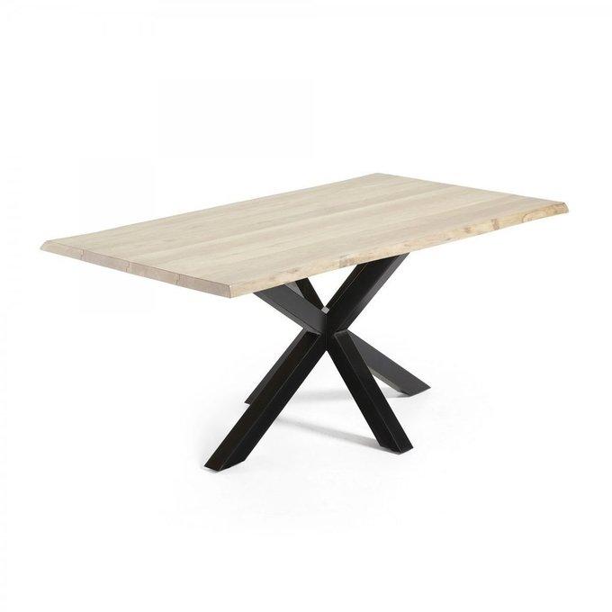 Обеденный стол Arya из массива дуба и металла