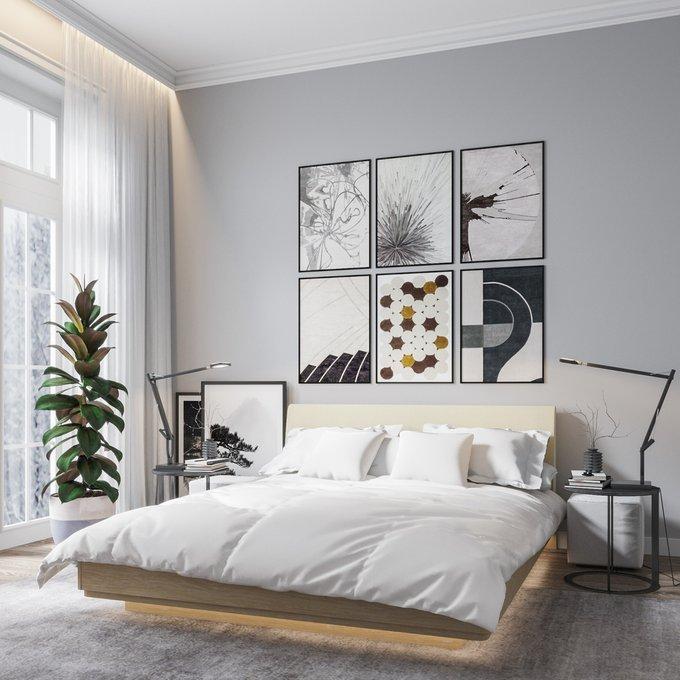 Двуспальная кровать с нижней подсветкой Элеонора 160х200