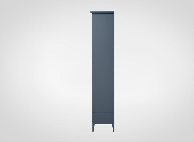 Книжный шкаф Manhattan серо-синего цвета