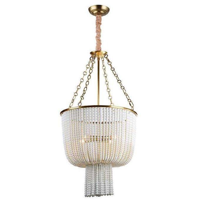 Подвесной светильник  Brass/White белого цвета