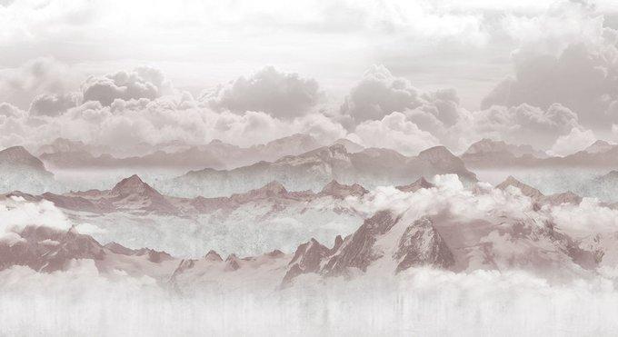 Фотообои Вершины в облаках в бежевых тонах
