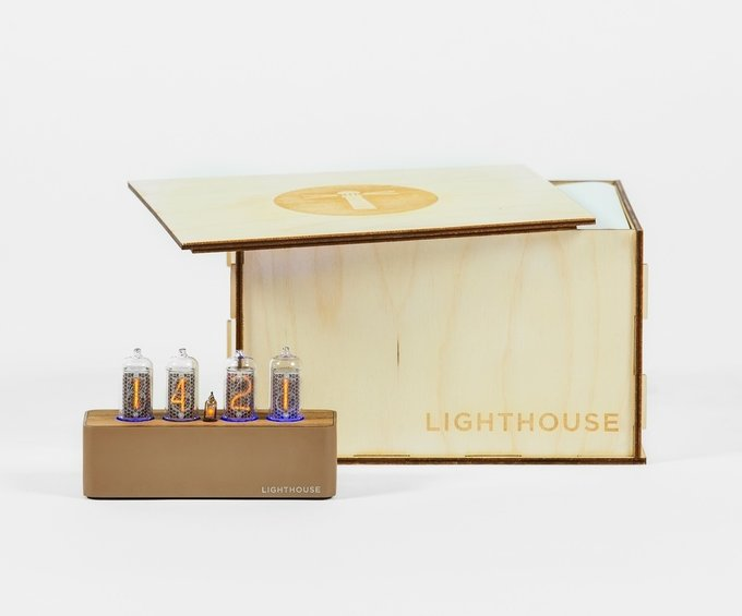 Часы на газоразрядных индикаторах Lighthouse 1.1 Brown