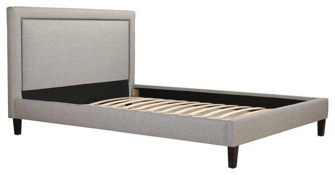 Кровать Laval Upholstered серого цвета 160х200