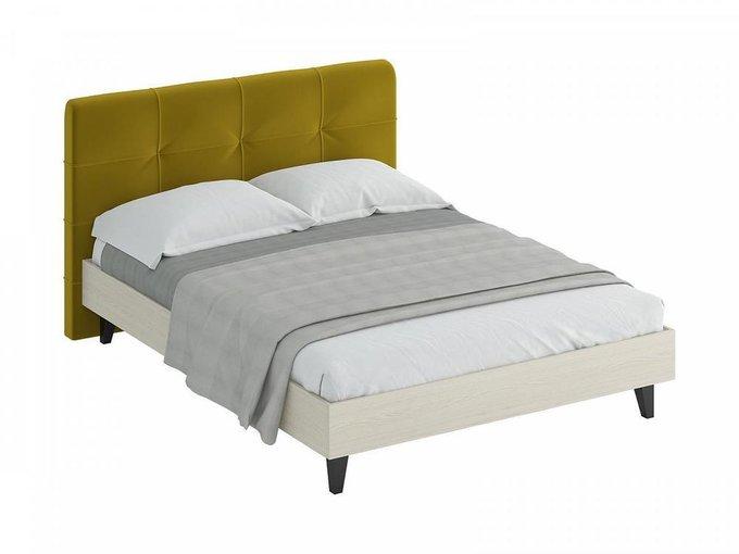 """Кровать """"Queen Anna"""" с горчичным изголовьем 160х200 см"""