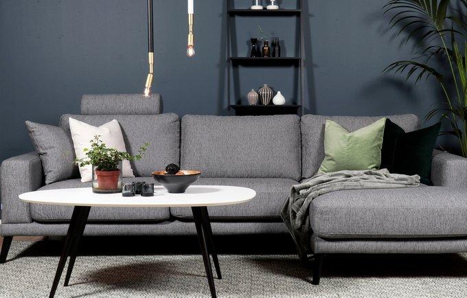 Угловой диван Trendline серого цвета