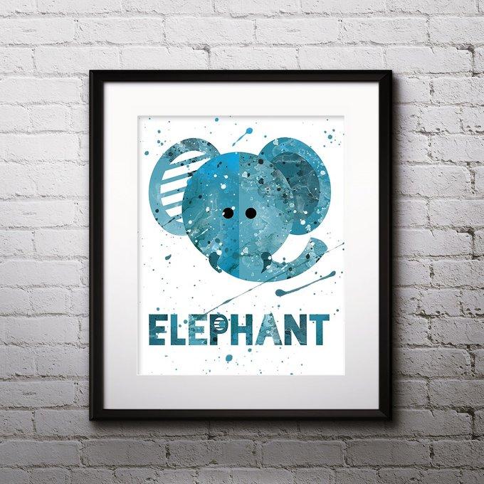 Постер Elephant А4