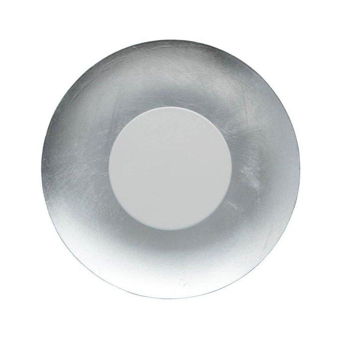 Настенный светодиодный светильник Галатея 14 из металла серебряного цвета