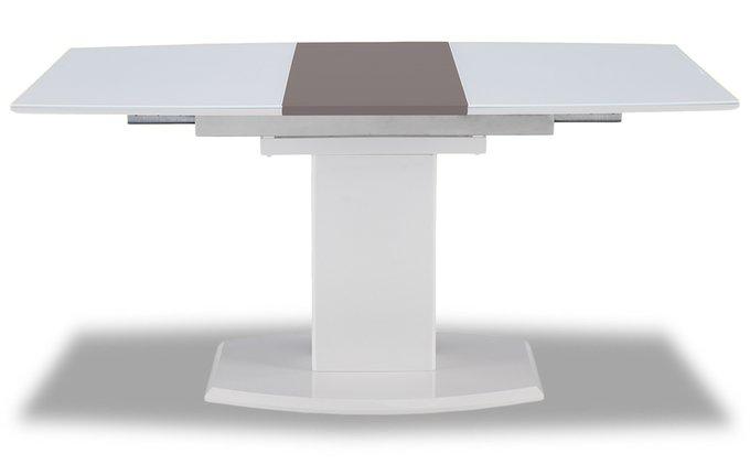Обеденный раскладной стол белого цвета
