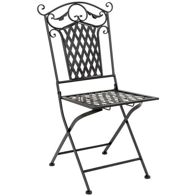 Складной стул Ницца черный антик
