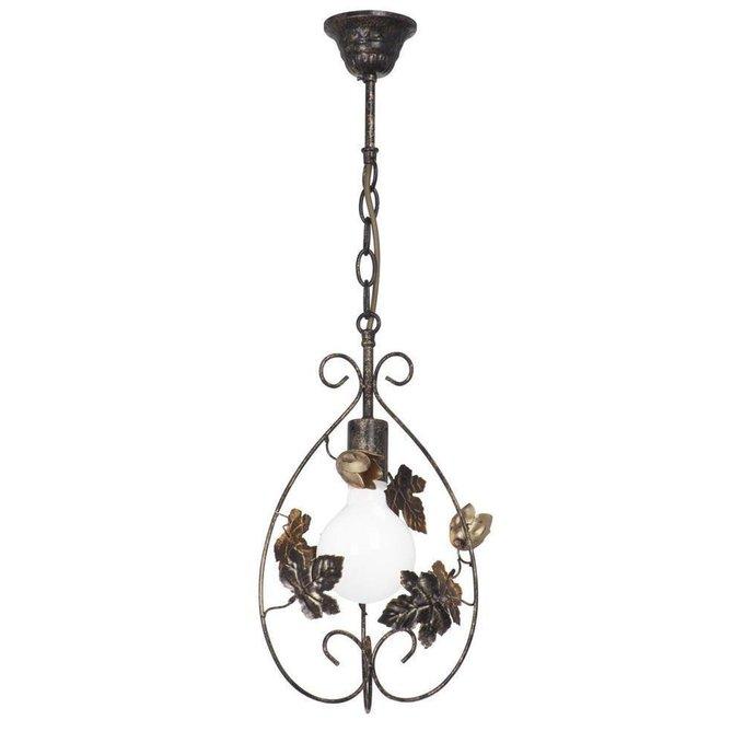 Подвесной светильник из металла бронзового цвета
