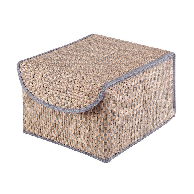 Коробка для хранения Casy Home с крышкой синяя