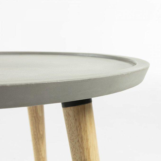 Кофейный стол Livy из натурального дерева и полицемента