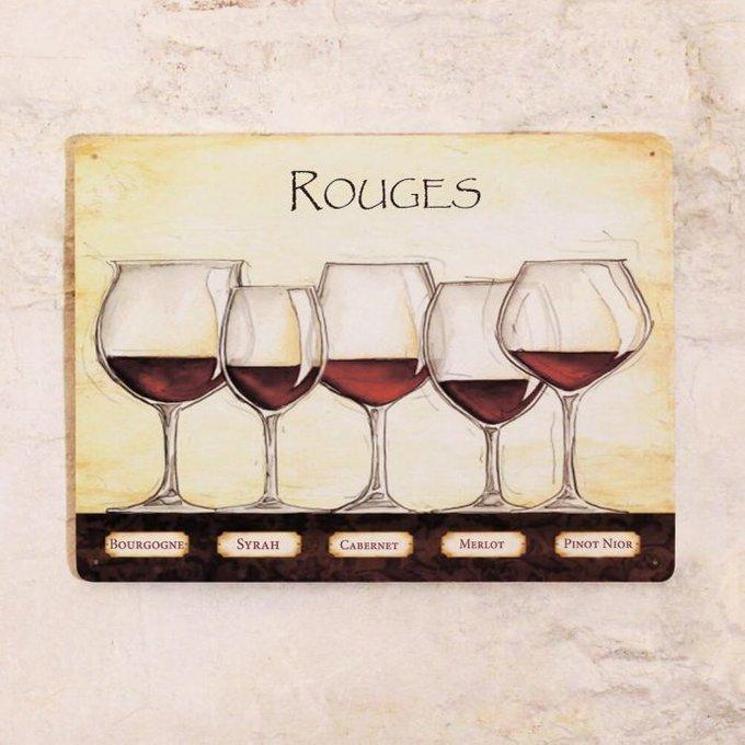Жестяная табличка Rouges