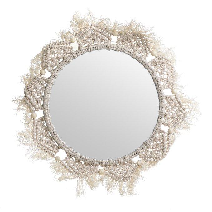 Зеркало настенное с плетеной рамой