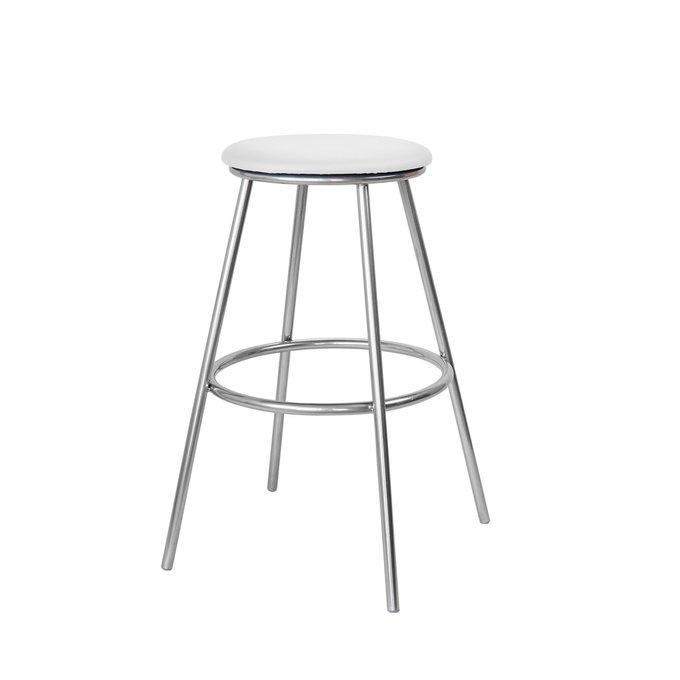 Барный стул Топ №5 белого цвета
