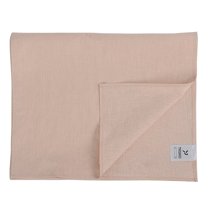 Дорожка на стол Essential из умягченного льна розово-пудрового 45х150